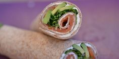 Salmon and Avocado Wraps Avocado Wrap, Avocado Hummus, Clean Eating, Healthy Eating, Always Hungry, Wraps, Soup And Salad, Fresh Rolls, Pitta