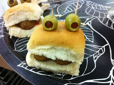 Frog Prince sandwiches for the Prince & Princess Party