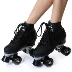 Double-row Lace-up Skating Shoes Wear-resistant PU Four Wheel Roller Skating Shoes Adult Men and Women Skates Size Price history. Roller Derby Skates, Retro Roller Skates, Roller Skate Shoes, Black Roller Skates, Roller Derby Girls, Indoor Roller Skating, Estilo Grunge, Figure Skating, Photography