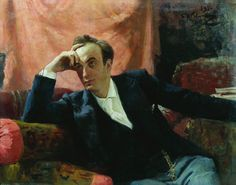 Ilya Repin (1844-1930, Russian) painting, sculpturePortrait of actor and dramatist Grigory Grigorievich Ghe, 1895