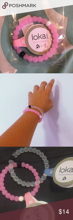 Pink Breast Cancer Awareness Lokai Bracelet Limited edition Lokai Bracelet! Not sold in stores! Retail price is $22. 100% authentic. Sizing chart in last pic can help :) Size medium! Lokai Jewelry Bracelets