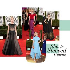 """""""Short-sleeved Gowns - Mad Monday"""" by roughnrefined on Polyvore"""