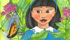 'A Butterfly's Gift' illustration by Terri Kelleher