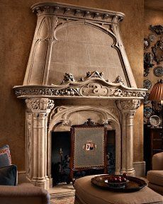 Gorgeous fireplace mantle!!! Its made by Francois & Co.: