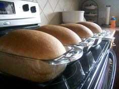 Finished loaves of bread