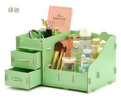 High Quality Desktop Wood Storage Box Fashion Desk Organizer Storage Box Pencil /Cosmetic /Make Up Storage Box 20140414-M31-1