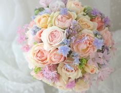 Such a beautiful bouquet Flower Bouqet, Beautiful Bouquet Of Flowers, Beautiful Flower Arrangements, Pink Bouquet, Floral Bouquets, Floral Arrangements, Beautiful Flowers, Pastel Wedding Theme, Floral Wedding