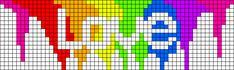Alpha friendship bracelet pattern added by Rensje. Cross Stitch Bookmarks, Cross Stitch Art, Cross Stitch Embroidery, Cross Stitch Patterns, Bead Loom Patterns, Perler Patterns, Beading Patterns, Graph Paper Drawings, Graph Paper Art