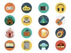 Free Flat Icons (AI, EPS, PSD & PNG)