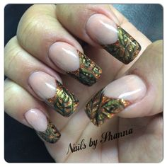 Fall Leave Nails by ShannaS from Nail Art Gallery