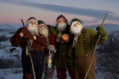 The Jolasveinar, or Yule Lads, are Icelandic trolls who bring presents to children at Christmas time.