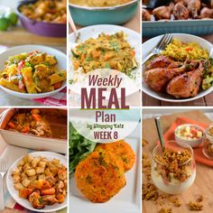 Slimming Eats Weekly Meal Plan - Week 8