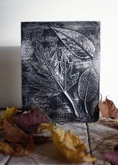 Tableau de feuilles d'automne