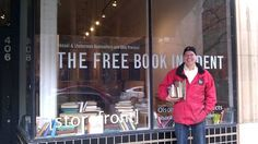 Tom found seven books at The Free Book Incident in Pioneer Square. (KIRO Radio/Tom Tangney)