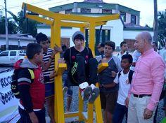 Alcalde de Pereira entrega el tercer gimnasio comunitario esta vez en San Joaquín