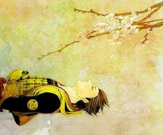 Sleeping under the flowers