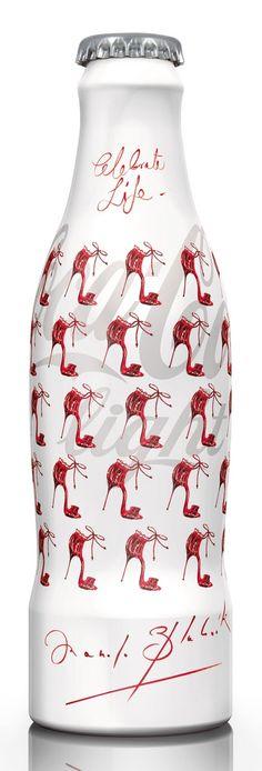 """Coca Cola bottle design ( Manolo Blahnik - """" Tribute to fashion """" )"""