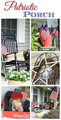 Hurray for the red, white and blue! Easy DIY porch decorating for the 4th of July.