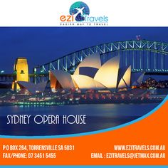 SYDNEY OPERA HOUSE visit Us at: http://ezitravels.com.au/ Or Call Us at: 07 3451 5455