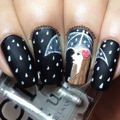 . Nails Only, Love Nails, How To Do Nails, Pretty Nails, My Nails, Finger Nail Art, Bling Nails, Bling Bling, Cute Nail Art