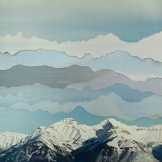 Love this #mountain collage by Becky Comber