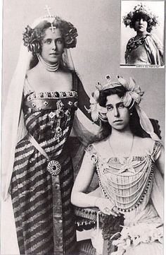 Ducky and Missy, Queen Victoria's Granddaughters. Missy became Queen of Rumania