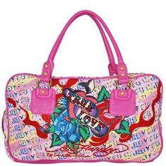 ☆ Ed Hardy - Claudia Satchel Bag - Pink ☆
