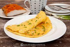 omleta-cu-cartofi-rasi-branza-si-slanina Vegetarian, Breakfast, Ethnic Recipes, Morning Coffee