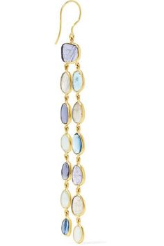 Pippa Small - 18-karat Gold Multi-stone Earrings