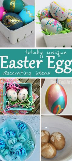 not your average EASTER EGG DECORATING IDEAS for kids AND adults.