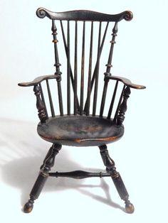 James Ison  black painted Windsor armchair