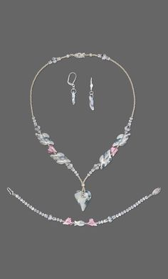 Jewelry Design - Single-Strand Necklace, Bracelet and Earring Set with Swarovski Crystal and Seed Beads - Fire Mountain Gems and Beads