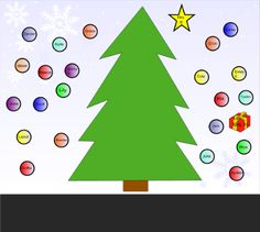 Christmas Attendance - Have students move their ornament onto the Christmas tree to check in for the morning.  Resource type: SMART Notebook lesson  Subject: Other  Grade: Pre-Kindergarten,  Kindergarten,  Grade 1,  Grade 2,  Grade 3