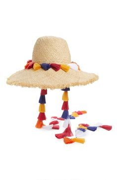 kate spade new york tassel sun hat available at #Nordstrom