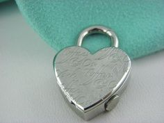 Tiffany & Co. Stainless Steel Notes Heart Watch Charm Pendant Swiss Made #TiffanyCo #Pendant