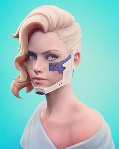 Sculpt based on a Dan Luvisi's concept 2010 final version. by hazardousarts Female Character Design, Character Creation, 3d Character, Character Concept, Cyberpunk Girl, Cyberpunk Rpg, Tutorial Zbrush, Zbrush Character, Sculpting Tutorials