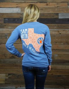 Sam Houston State University is home of the AMAZING Bearkats! Show your love for your Bearkats in this new Texas t-shirt! Go SHSU!