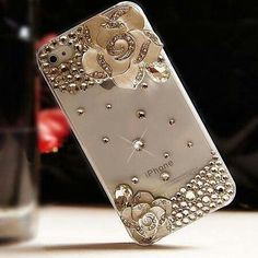 Rhinestone iPhone cases, Decorate your iPhone with IPhone 6 Bling Cases Transparent Crystal Rose Rhinestone Bling Case Cover for iPhone 6 Iphone 6 Plus! The High Quality Pearl Diamond-studded Back Case for iPhone is designed for you. Iphone 8 Plus, Iphone 7, Apple Iphone, Cool Iphone Cases, Ipod Cases, Cute Phone Cases, Bling Bling, Smartphone, Shell