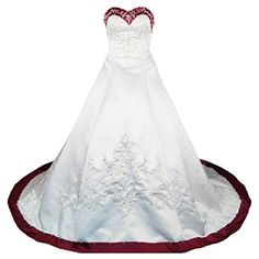 RohmBridal Sweetheart A-line Wedding Dress Bridal Gown >>> Visit the image link more details. (This is an affiliate link) #WeddingDresses