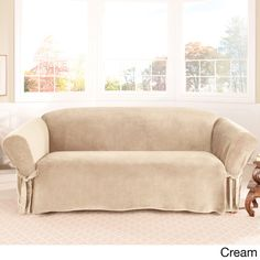sure fit soft touch velvet sofa slipcover overstock shopping big discounts on sure fit sofa slipcovers
