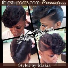 Looking for fishtail braid hairstyles, funky retro victory roll updos, or a quickweave whipped to precision for black hair? When creativity and hair meets, you get art in motion, and Hair Stylist Makia gifted hands delivers. Love Hair, Gorgeous Hair, Beautiful, Fishtail Braid Hairstyles, Updo Hairstyle, Bun Hairstyles, Wedding Hairstyles, Natural Hair Styles, Short Hair Styles