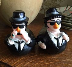 BLUES BROTHERS Rubber Duck Set of Two - Belushi & Akroyd EUC Rubber Duckies! | eBay
