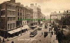 Dublin City Center - Grafton St - Dublin City - Lower End Mime Artist, Glen Hansard, Irish Independence, Ireland Homes, Dublin City, Emerald Isle, Queen Victoria, Vintage Photographs, Old Pictures