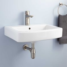 Medeski Porcelain Wall Mount Bathroom Sink
