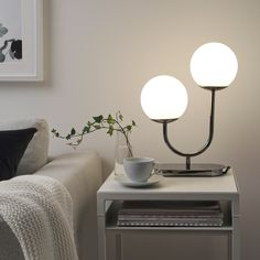 Table Lamps For Bedroom, Modern Table Lamps, White Table Lamp, Glass Table Lamps, Modern Bedside Lamps, Cool Table Lamps, Night Table Lamps, Table Lamp Base, Nightstand Lamp