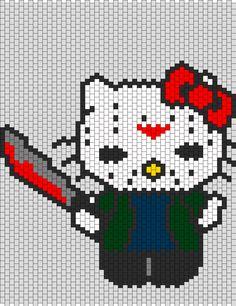 Jason Hello Kitty bead pattern