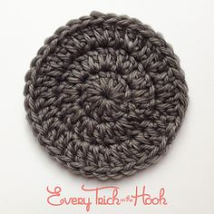 Double crochet circles are used in many crochet patterns, like beanies, coasters, and placemats. This pattern explores a technique for making perfect, solid, double crochet circles.