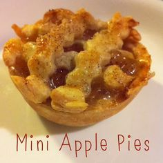 I don't know if it's the cold weather or the upcoming holidays, but I have been in the mood to bake! Mini Apple Pies, Mini Pies, Yummy Treats, Sweet Treats, Yummy Food, Thanksgiving Platter, Apple Pie Recipes, Sunshine, Sweets