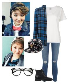 """Ashley Mardell"" by an-internet-girl ❤ liked on Polyvore featuring Frame Denim, Visvim, Equipment, Giuseppe Zanotti, fandom, youtube, lgbtqia and ashleymardell"