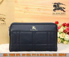 Burberry Clutch Bag 223 Blue 22.5cm